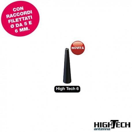 Antenna auto HiTech 6, altezza 6 cm UNIVERSALE - colore nero